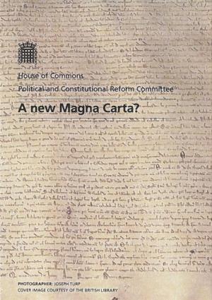 A new Magna Carta