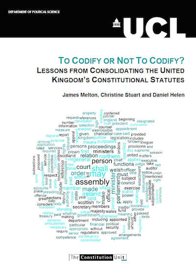 should the uk have a codified constitution essay This essay argues that the uk should not adopt a codified constitution this is for many reasons including: inflexible judicial tyranny parliamentary sovereignty and that it is unnecessary the most damning factor has to be that it is inflexible.