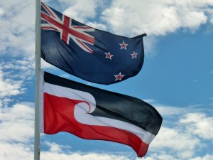 The New Zealand and Tino Rangatiratanga flags
