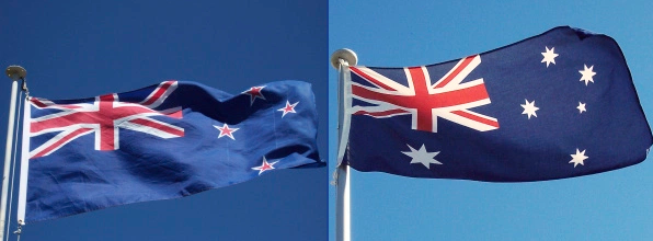 NZ Aus flags